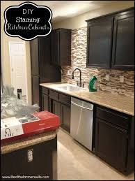 kitchen dark stained kitchen cabinets charming on kitchen