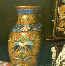 austrian vases antique max schödl austrian 1834 1921 still life with clock vase and