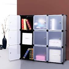 Book Cabinet With Doors by Songmics 3 Tier Diy Storage Cube Organizer Closet 9 Cube Bookcase