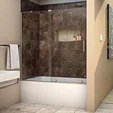 dreamline enigma x 56 59 in width frameless sliding tub door 3