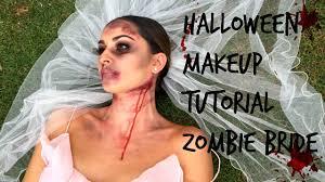 easy halloween makeup tutorial zombie bride youtube