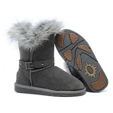 grey ugg boots sale ugg boots black friday sale fox fur buckled 5558 grey for