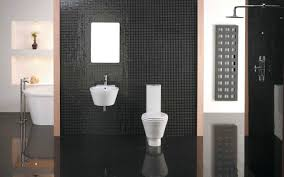 luxury bathroom interior with modern mosaic black tiles bathroom