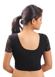 saree blouse amazon com stretchable black ready made saree blouse sari choli