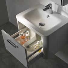 roper rhodes moment 600mm wall hung vanity unit white gloss