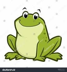 vector illustration cartoon green fat frog stock vector 474919270
