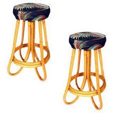 vintage u0026 used rattan bar stools chairish