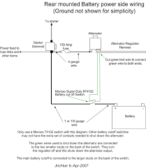single battery disconnect switch wiring diagram diagram wiring