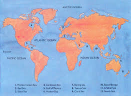 map world seas how many oceans are there in the world universe today