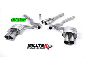 mustang titanium exhaust ford mustang 2 3 ecoboost milltek cat back exhaust system 4x