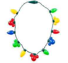 christmas light necklace disney parks mickey mouse christmas retro bulb light up necklace