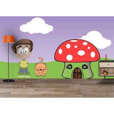 Kids Room Wallpapers by Kids Wallpapers Adhesive Waterproof Fun Cartoon Colourful Room Walls