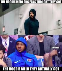 Melo Memes - nba memes the melo the thunder thought they got facebook
