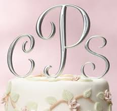 wedding cake toppers letters new monogram cake toppers wedding rumors