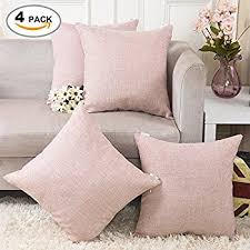 amazon com home brilliant lined linen cushion cover square throw