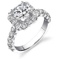 large diamond rings large diamonds fully bloomed flower halo tension bezel band