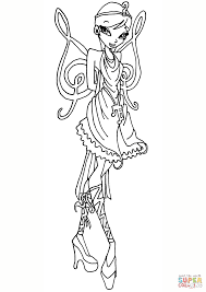 winx club princess galatea fairy coloring page free printable