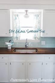 kitchen interior glass backsplash blue tile subway ideas bathroom
