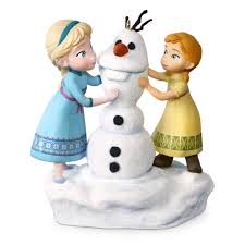 disney frozen and elsa build a snowman musical ornament