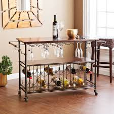 wine rack kitchen island wood top kitchen island wine rack cart with storage shelf