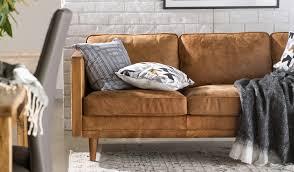 semi aniline leather sofa glamorous tan leather sofa meillon 3 seater semi aniline focus on