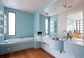 charming light blue bathroom floor tiles with interior home paint