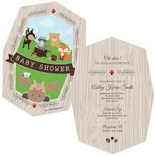 woodland creatures baby shower invitations best inspiration from