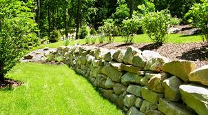 stone wall in the garden dream homes plans