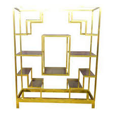 Gold Bookcase Vintage U0026 Used Gold Bookcases And étagères Chairish