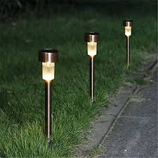 Stainless Steel Outdoor Lighting Bronze Solar Landscape Lights Four Seasons Courtyard Solar Path