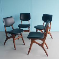 Teal Dining Chairs by Teak Dining Chairs From Pynock 1950s Set Of 4 For Sale At Pamono
