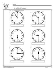 telling time half hour worksheets free worksheets library