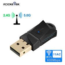 pc de bureau wifi rocketek 600 mbps usb wifi dongle adaptateur bande usb sans