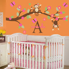 lovely monkey room decor room design ideas room Nursery Monkey Wall Decals