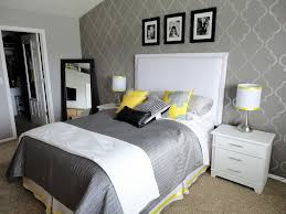 black white and yellow bedroom home design ideas
