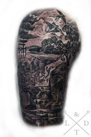 dead forest sleeve tattoo pictures to pin on pinterest tattooskid