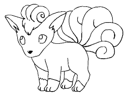 coloring pages pokemon vulpix drawings pokemon