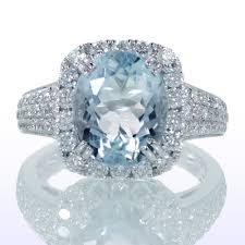 engagement rings for sale sale oval cut aquamarine set in cushion halo engagement