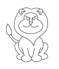cartoon drawing of a lion grinning lion royalty free cliparts