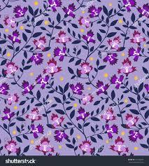 Dusty Purple Florid Elegant Classic Floral Pattern On Stock Vector 416194567