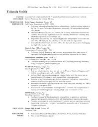 resume sample for customer service representative customer