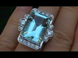 ebay rings vintage images Certified jewelry auctions vs1 natural aquamarine diamond 14k jpg