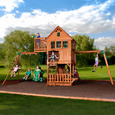 garden impressive wooden swing sets clearance and gorilla
