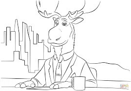 peter mansbridge from zootopia coloring page free printable