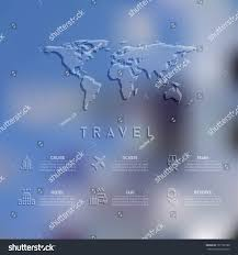 Travel Theme Blurred Unfocused Background Travel Theme Vector Stock Vector