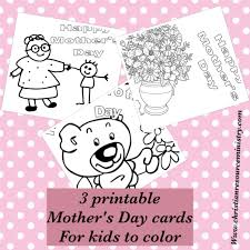 printable mother u0027s day cards for kids