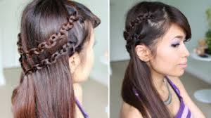 snake braid headband hairstyle for medium long hair tutorial