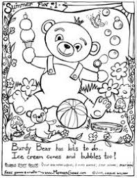 summer fun printable coloring pages free mother goose