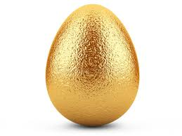 golden easter egg golden easter egg on white background stock illustration