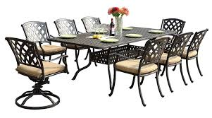 6 Seat Patio Dining Set Amazon Com Darlee 201630 9pc 30sl Ocean View Cast Aluminum 9